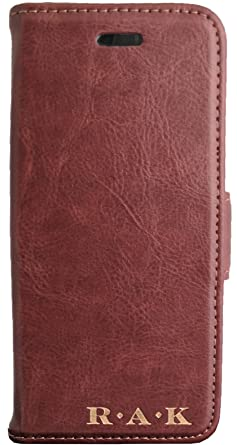 e676cc4221a1 Image Unavailable. Image not available for. Color: Luxitude Personalized  Vegan Leather Phone Case Wallet - Compatible with iPhone ...
