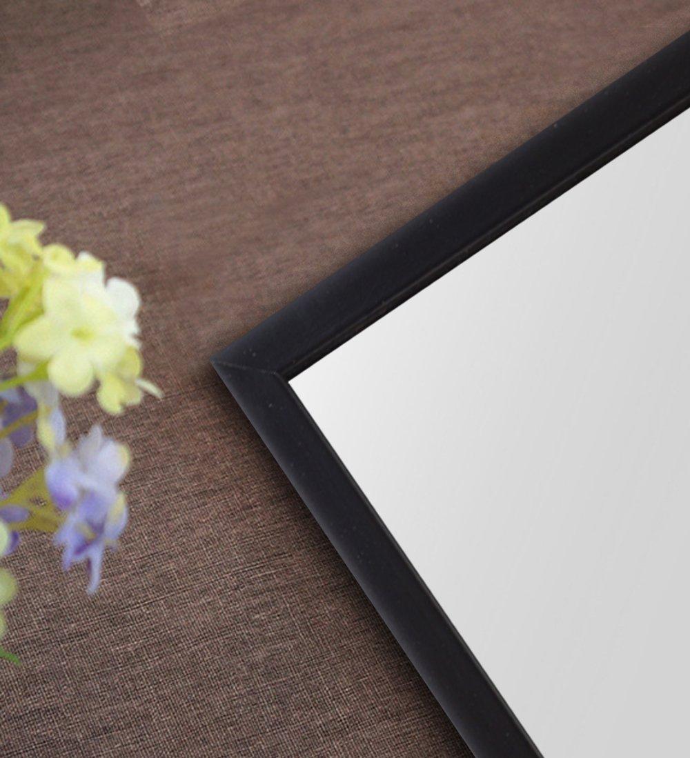 H&A 65''x22'' Full Length Mirror Bedroom Floor Mirror Standing or Hanging (Black)