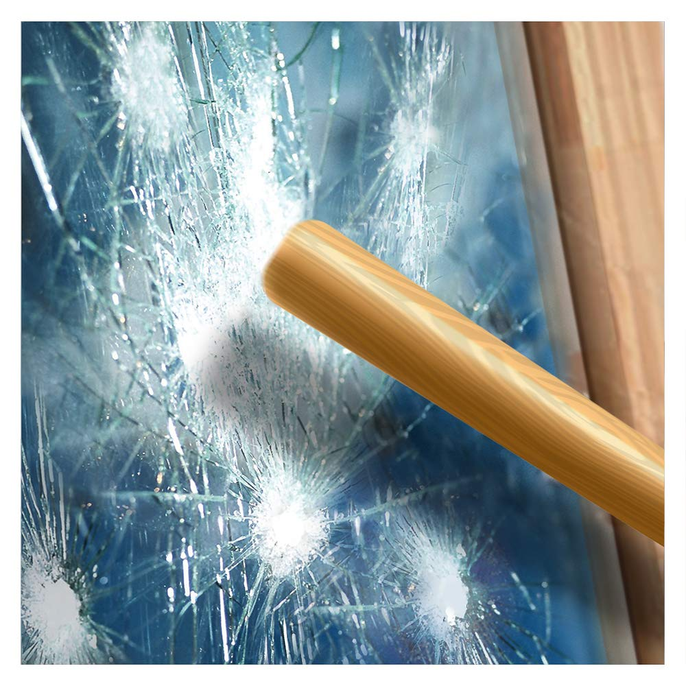 BDF S4MB70 Window Film Security and Sun Control 4 Mil Black 70 (Very Light) - 24in X 49ft