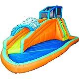 Amazon.com: Banzai Aqua Blast Dual Racing Slide: Toys & Games