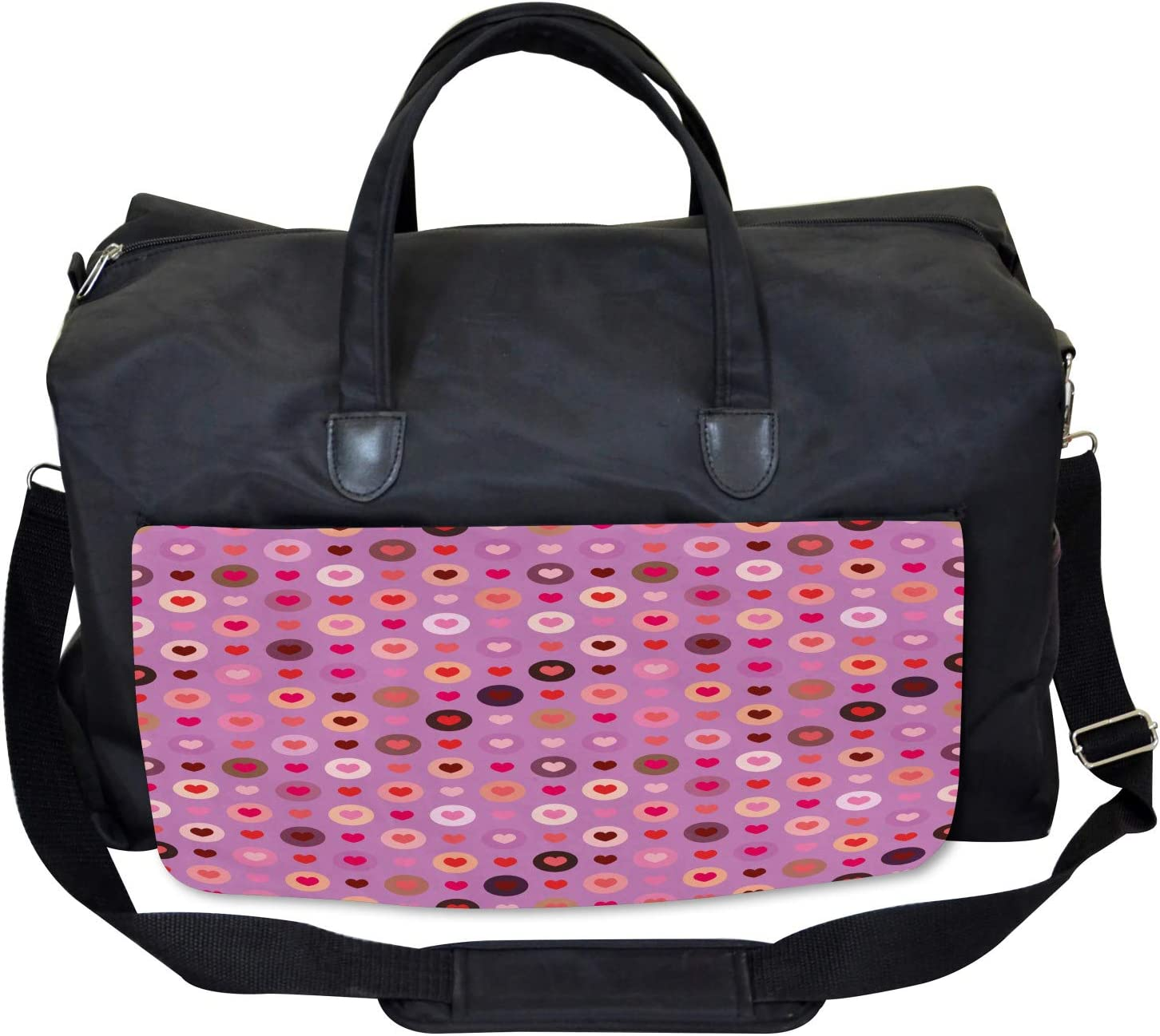 Ambesonne Abstract Gym Bag Large Weekender Carry-on Valentine Romance Love