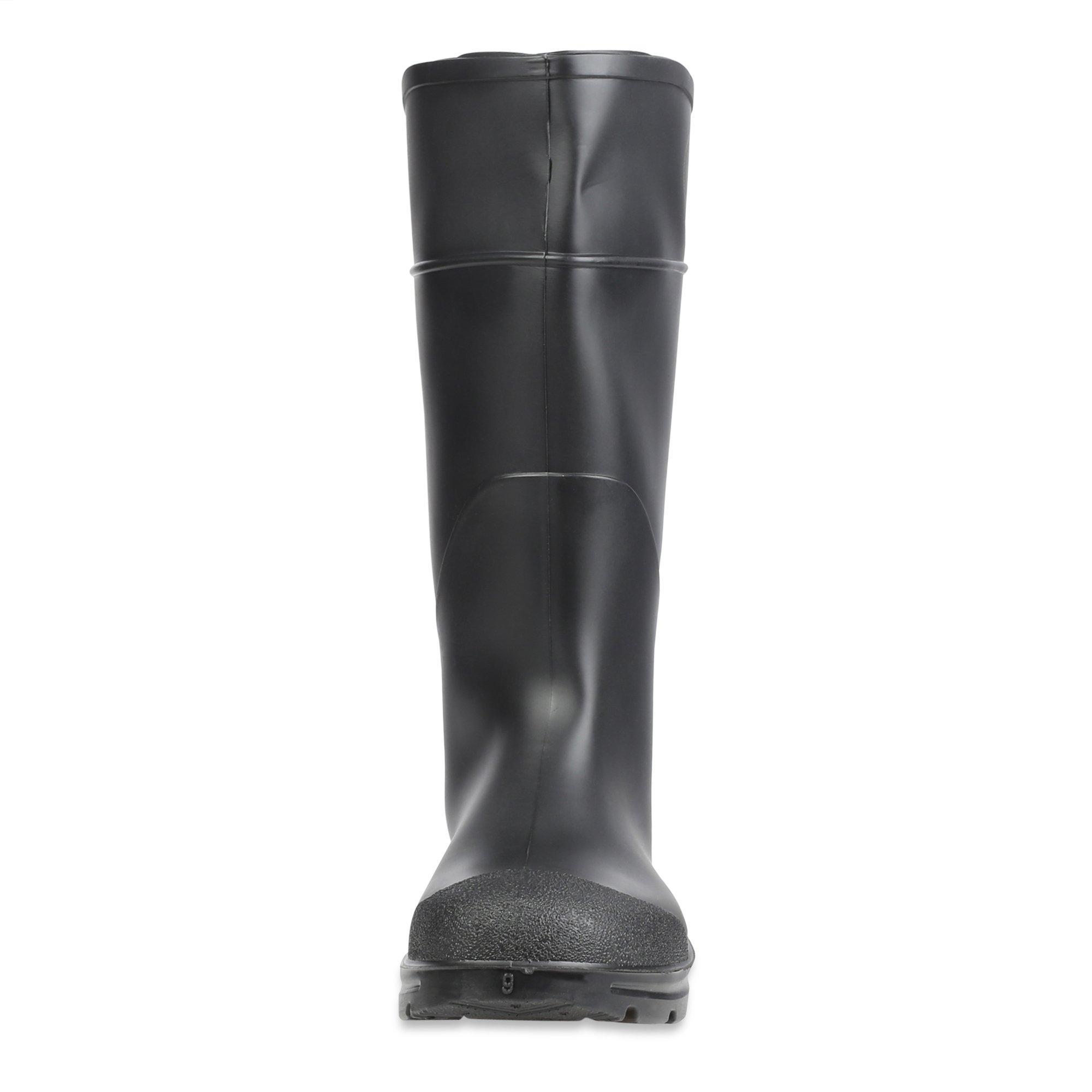 Servus Comfort Technology 14'' PVC Steel Toe Men's Work Boots, Black, Size 10 (18821) by Servus (Image #1)