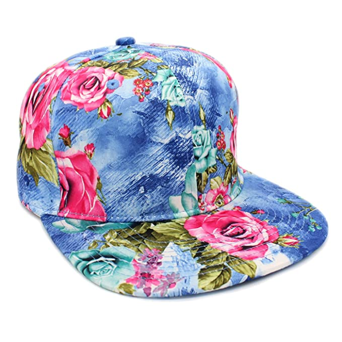 f1af240d9b8 Rose Print Snapback Cap All over Flower Print Hat