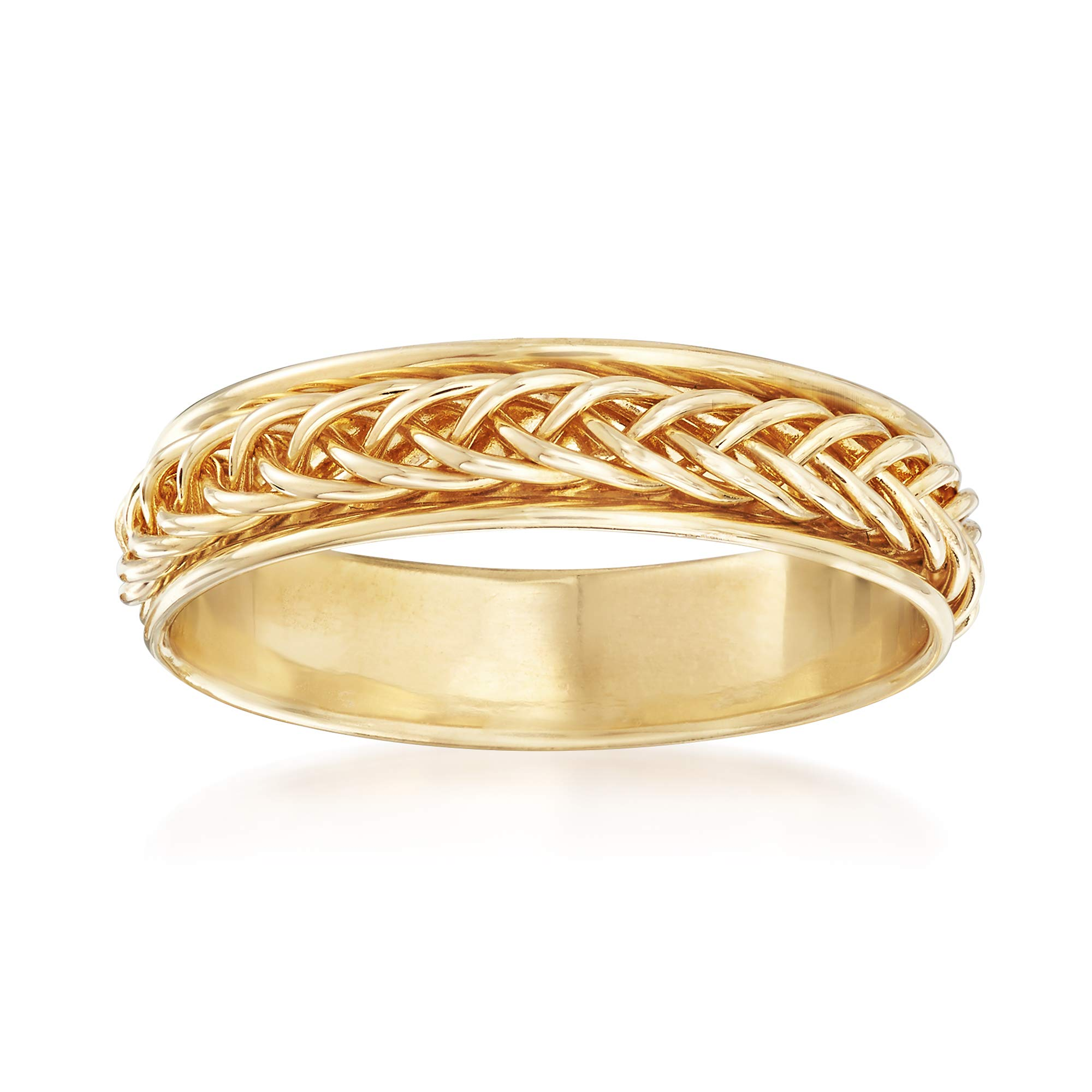Ross-Simons 14kt Yellow Gold Small Braided Band Ring
