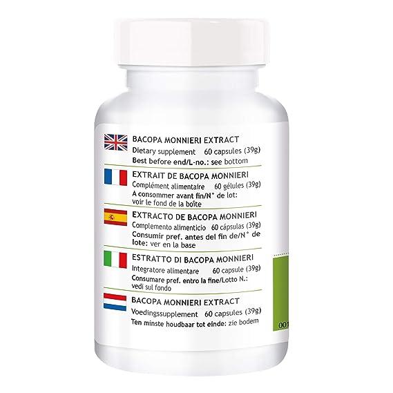 Extracto de Bacopa Monnieri - Herbadirekt - con el 20% de Bacósidos: Amazon.es: Salud y cuidado personal