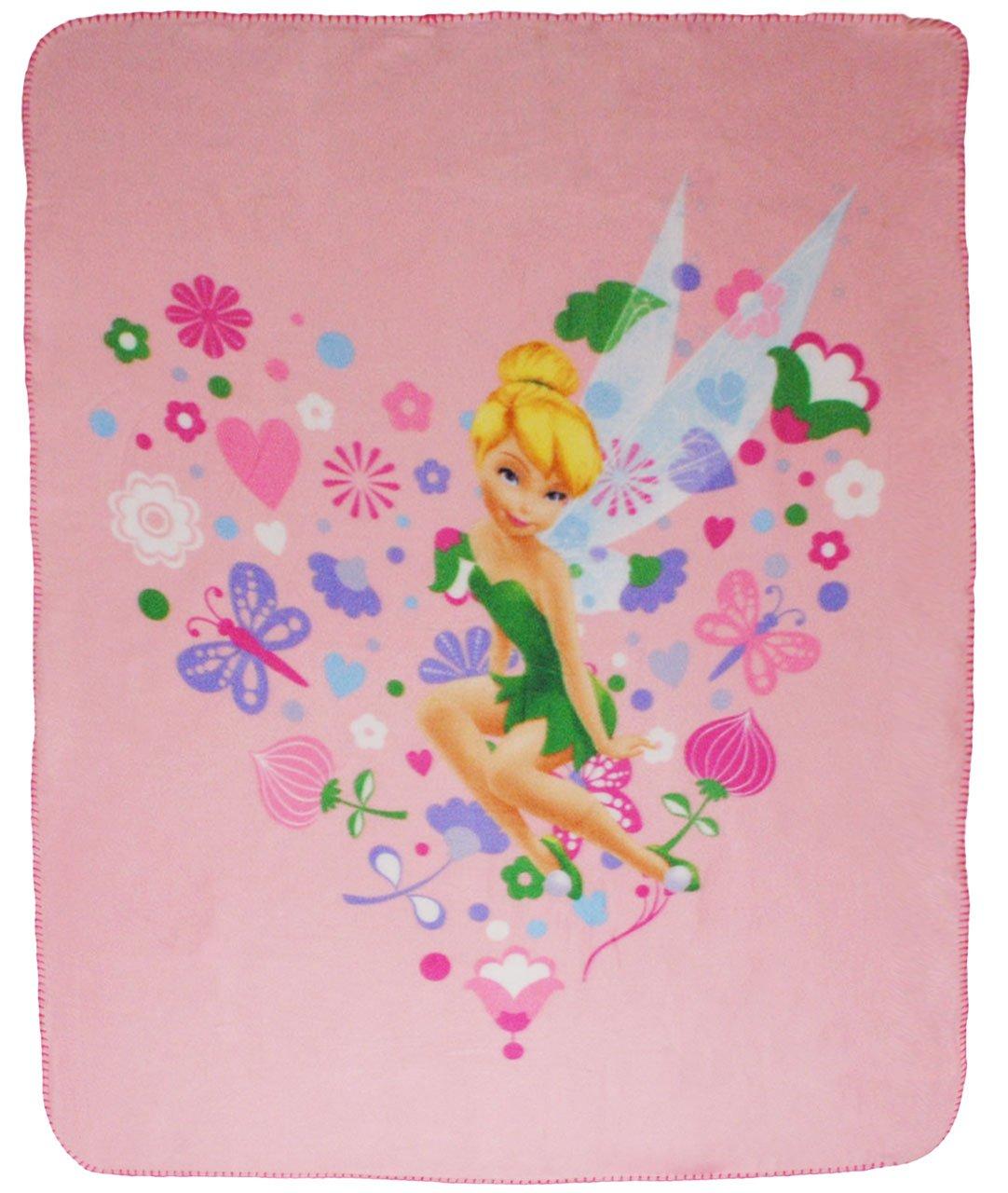 alles-meine.de GmbH Kuscheldecke / Fleecedecke - Disney Fairies - Tinkerbell - Incl. Name - 11..