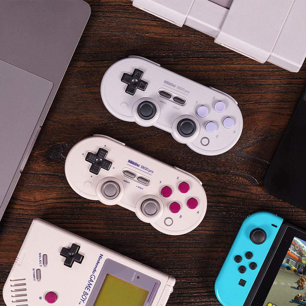 8Bitdo SN30 Pro Wireless Bluetooth Controller with Joysticks Rumble Vibration USB-C Cable Gamepad for Windows, Mac OS, Android, Steam, etc, Compatible with Nintendo Switch by RunSnail (Image #6)