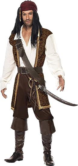 SmiffyS 26224L Disfraz De Pirata De Alta Mar Con Top, Pantalones ...