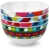 French Bull - Melamine Mini Bowl Set 300ml - for Desserts, Appetizers or Dips - Multicolor, Set of 6