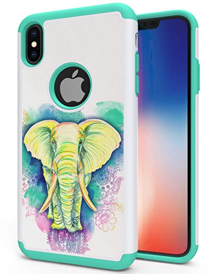 85ff5e5ff0f4d iPhone XS Max Elephant Case, ANLI Drop Protection Hybrid Dual Layer Armor  Protective Case Cover Compatible with Apple iPhone XS Max 6.5 inch 2018 ...