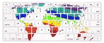 Amazon hrh world map pattern keyboard cover silicone skin for hrh world map pattern keyboard cover silicone skin for macbook air 13 and macbook pro 13quot gumiabroncs Choice Image