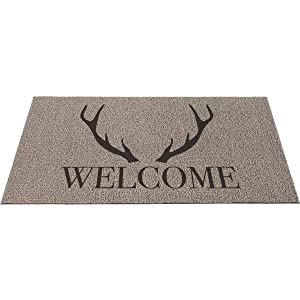 Americo Home 18 In. x 30 In. Gray Front Runner Antler Welcome Door Mat - 1 Each
