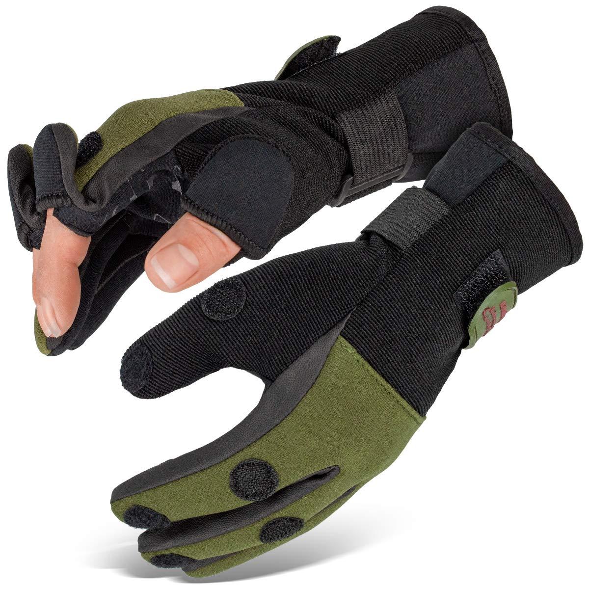Angel Handschuhe Fishing Gloves Neopren Angelhandschuhe Wizard