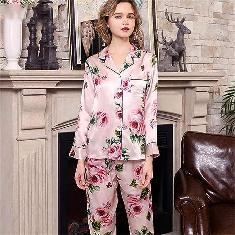 BUTTERFLYSILK Conjunto de Pijama de Seda 100 para Mujer ...