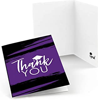 product image for Purple Grad - Best is Yet to Come - Purple Graduation Party Thank You Cards (8 Count)