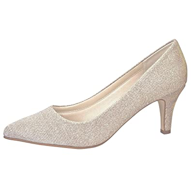 Rainbow Club Brautschuhe Brooke Pumps Ivory Creme Gold Metallic
