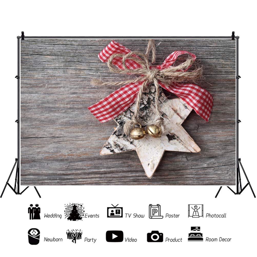OERJU 3x2m Navidad Fondo Navidad Timbre de Campana Estrella ...