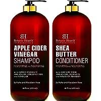 BOTANIC HEARTH Apple Cider Vinegar Shampoo & Shea Butter Conditioner Set, Color...