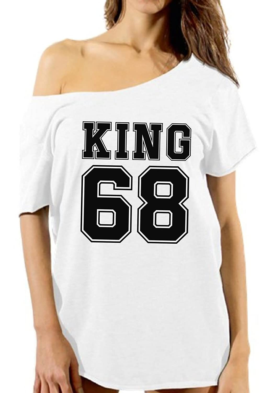 Vizor Womens Dr Martin Luther King Off Shoulder T Shirts Tops King68