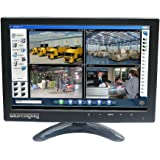 "Sourcingbay IPS101 10"" IPS TFT LED CCTV Monitor with HDMI Cable and BNC Cable for DVR Camera PC - Built-in Speaker (Black)"