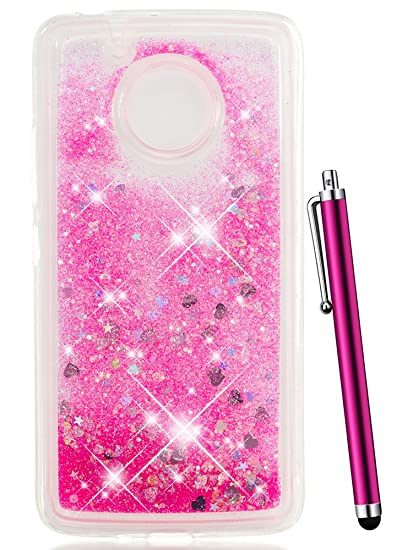 competitive price 81afe b4105 Amazon.com: CAIYUNL for Moto E4 Case for Girls, Moto G5 Case for ...