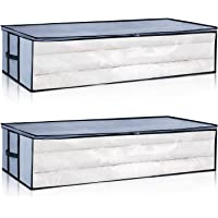 2-Pack Seckon Under the Bed Storage Container with Whole Clear Window