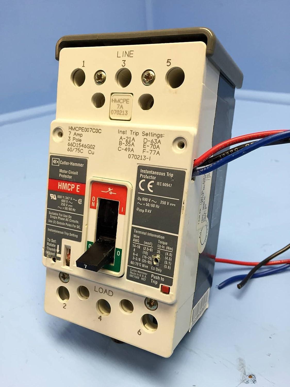 Eaton Cutler Hammer Hmcpe007c0c Motor Circuit Protector 3p 7a Wiring Breaker Magnetic Breakers Industrial Scientific
