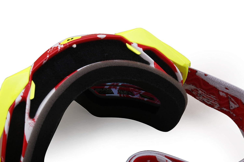 Red,Anti Fog Clear Lens NENKI Adult Motocross Goggle NK-1023 for ATV,Quad Bike,Dirt Bike