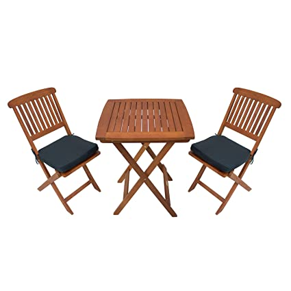 Sunward Outdoor Bistro Sets / Patio Table Sets / Bistro Set 3 Piece / Folding Coffee  sc 1 st  Amazon.com : bistro garden table set - Pezcame.Com