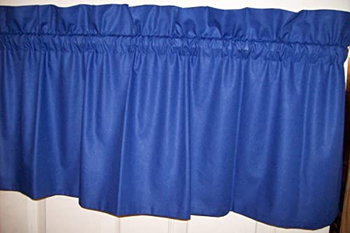 Royal Blue Valance 100 Wide X 15 LONG .Unlined