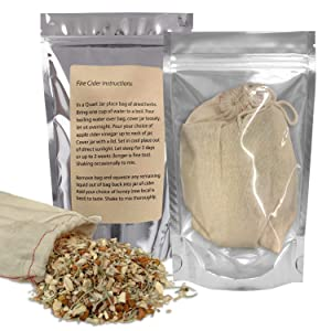 Fire Cider Tonic Kit - Brewing Bag With Herbs and Spices For DIY Home Remedy, Makes 32 Ounces