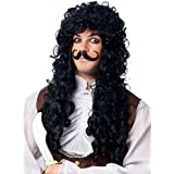 Franco Captain Hook Adult Wig and Mustache-