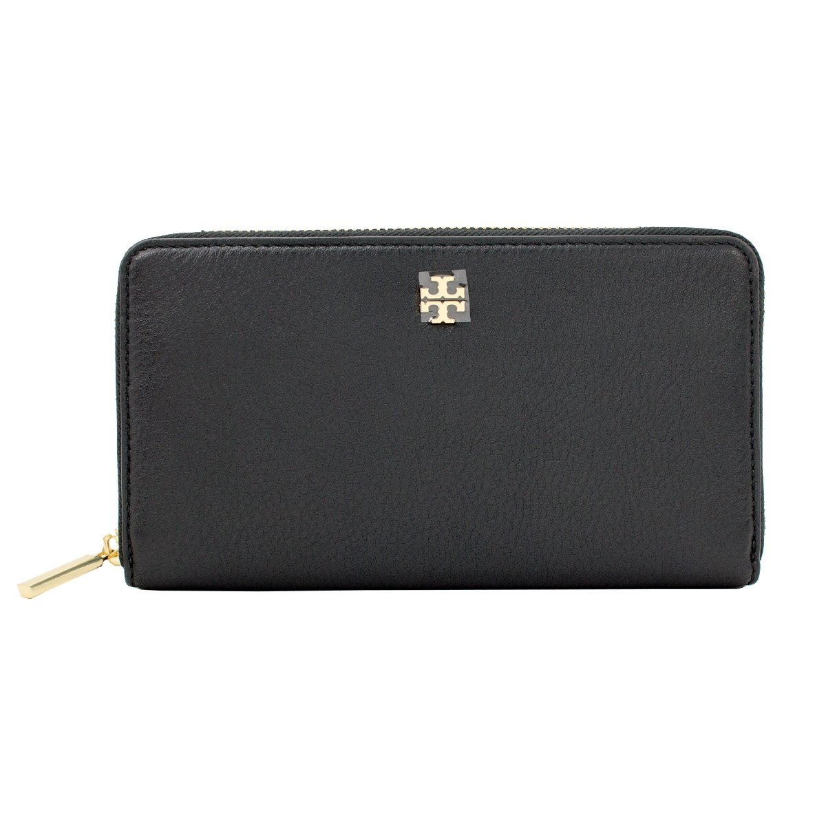 Tory Burch Mercer Zip Soft Pebbled Leather Continental Wallet Style No. 31412 (Black)