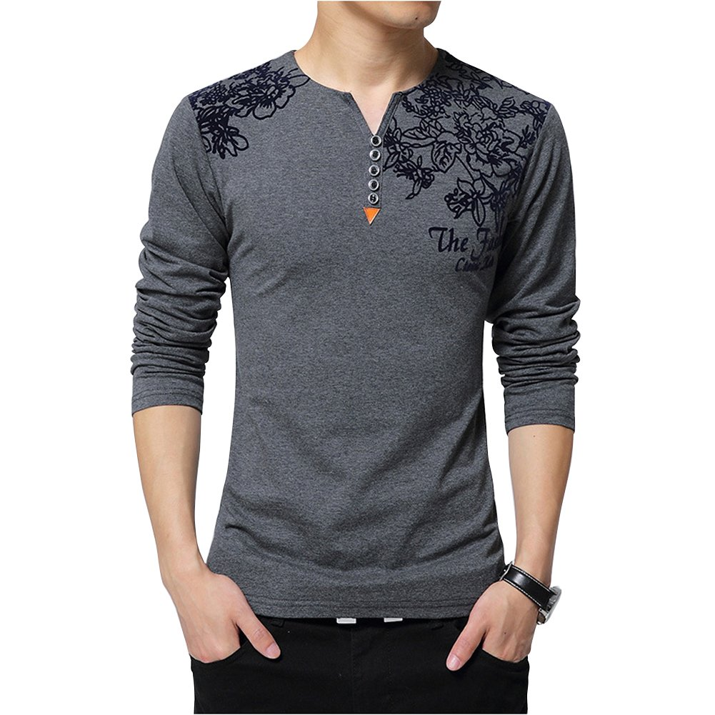 1acaf917f WISHERE This item is only provided by WISHERE and did not authorize any  second stores to sell our items. 100% Cotton Soft and comfortable Long  sleeve Henley ...