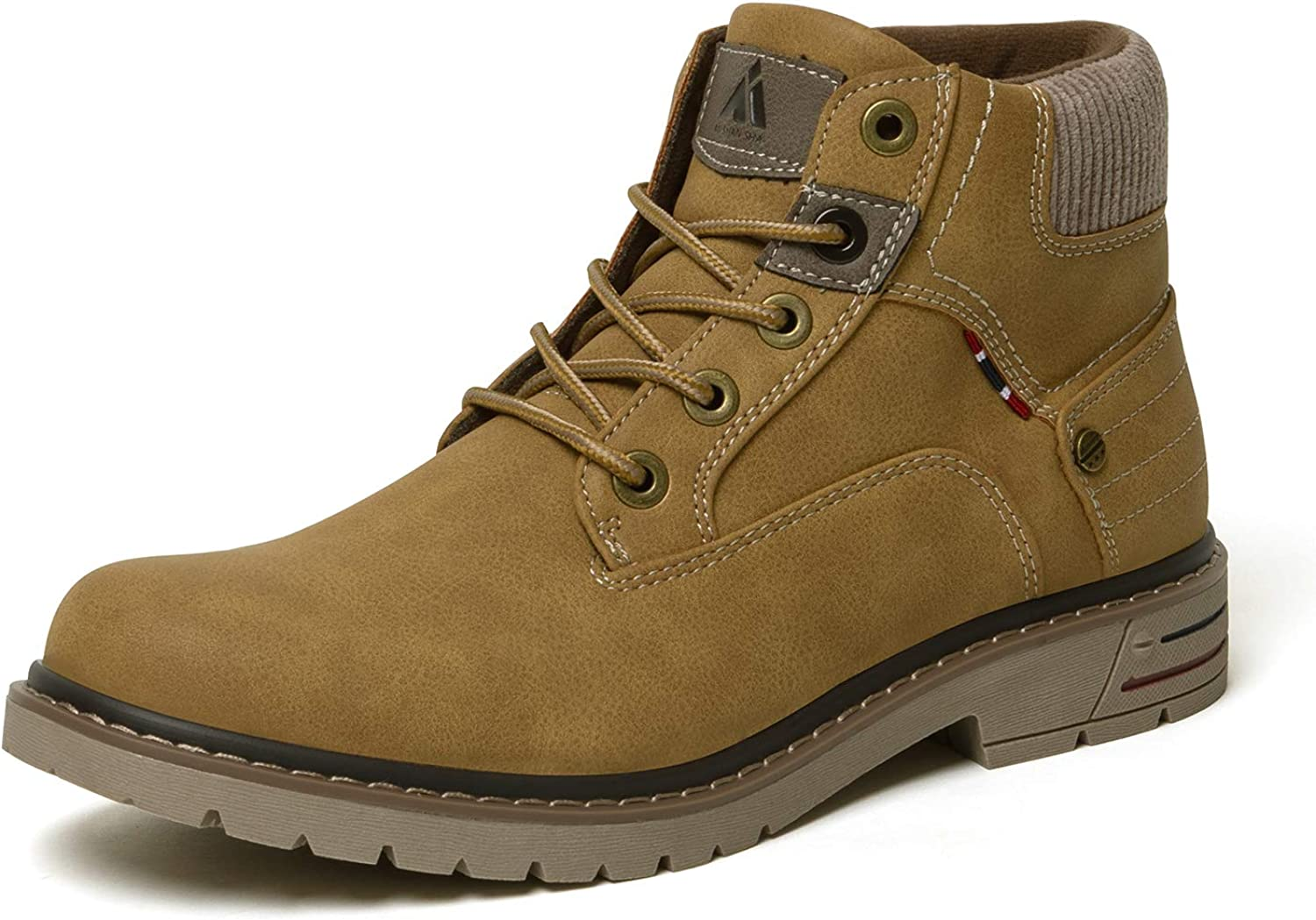 Men's Mid Hiking Boots Outdoor Water Resistant Non Slip Ankle Casual Boot