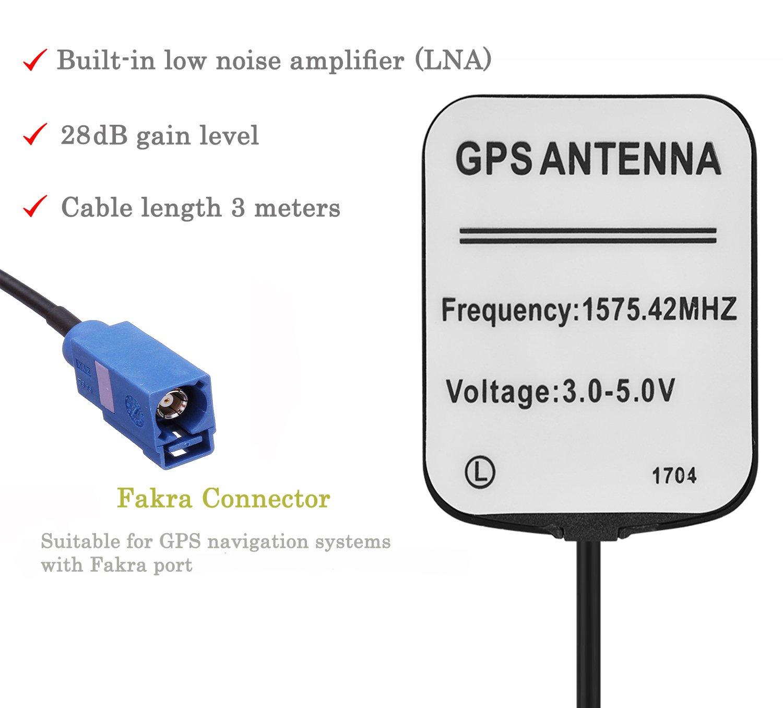 Blizim Coche GPS Activa Antena 28dB con Fakra Conector