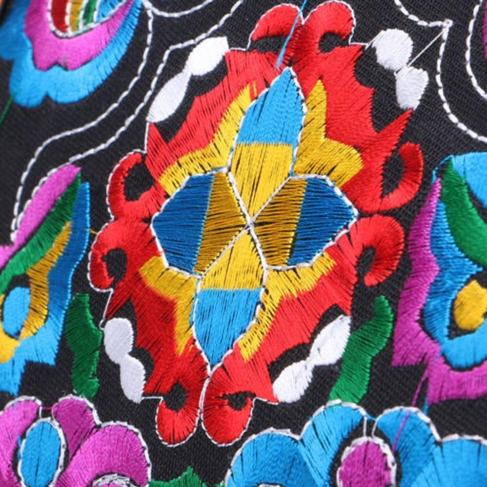 Vintage Canvas Ethnic Shoulder Bag Embroidery Hippie Tassel Tote Messenger Ba Yd