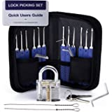Lock Pick Set, Cozysmart 17-Piece Lock Picking Set kit Tools with 1 Clear Practice and Training Locks for Lockpicking…