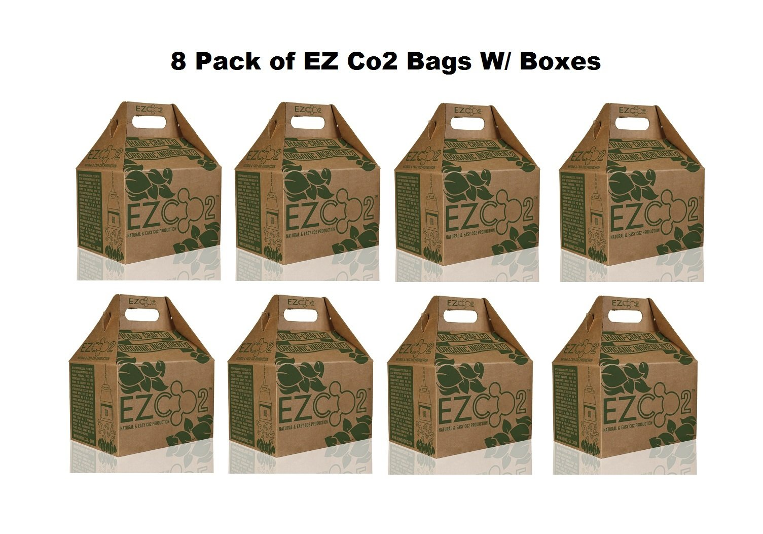 8pc / CASE EZ CO2 Bags Natural CO2 Production High Yield Generator (USA - LOWER 48 STATES ONLY)