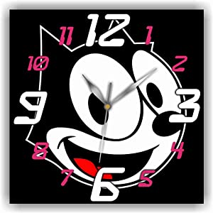 Art time production Felix The Cat 11'' Handmade Wall Clock - Get Unique décor for Home or Office – Best Gift Ideas for Kids, Friends, Parents and Your Soul Mates
