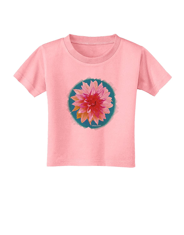 TooLoud Watercolor Flower Toddler T-Shirt