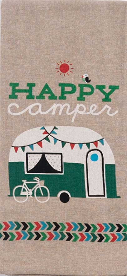 Kay Dee Designs R3019 Happy Camper Chambray Tea Towel
