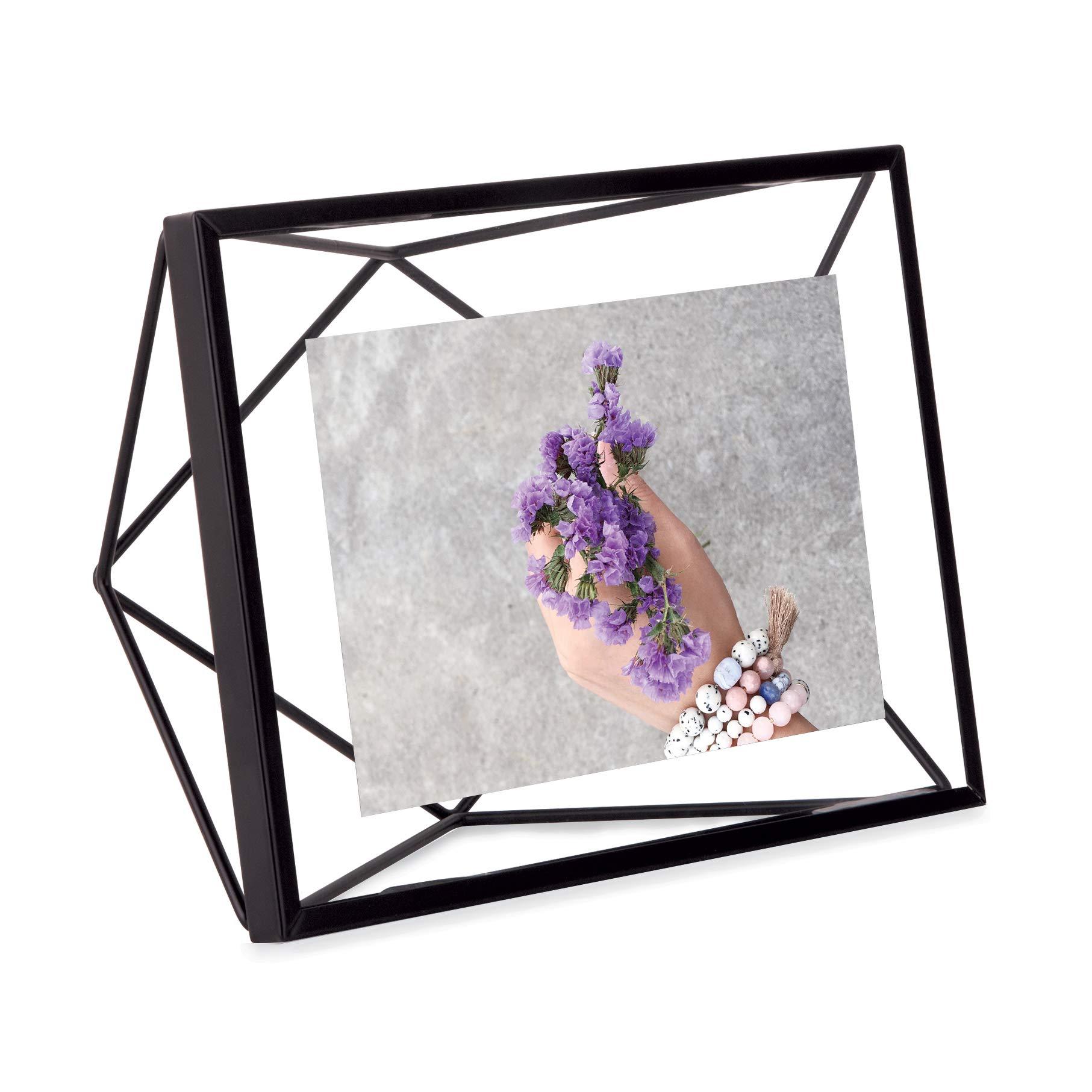 UMBRA Prisma. Cadre photo filaire en métal entre deux-verres Prisma. A poser ou à accrocher. Pour 1 photo 10x15cm. Coloris Noir product image