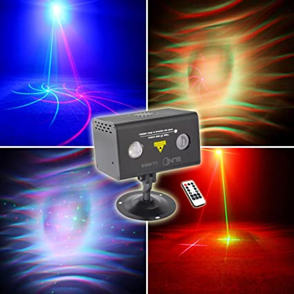 suny mini party laser lights sound music activated laser light show rg 8 patterns projector rgb