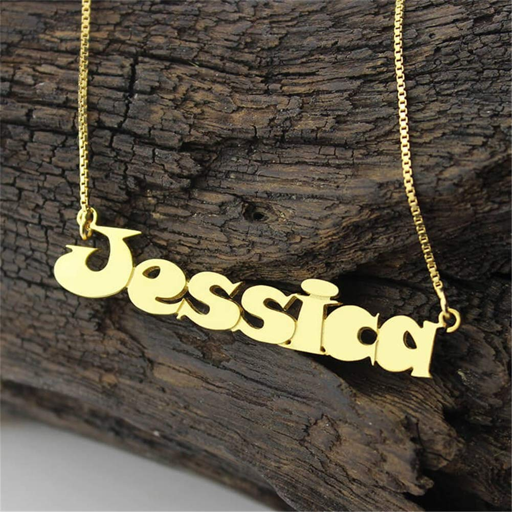 SADNESS N Personalized Name Necklace Custom Made Any Name Classic Cursive Sterling Silver Pendant