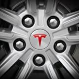 Tesla Wheel Decal (Red)