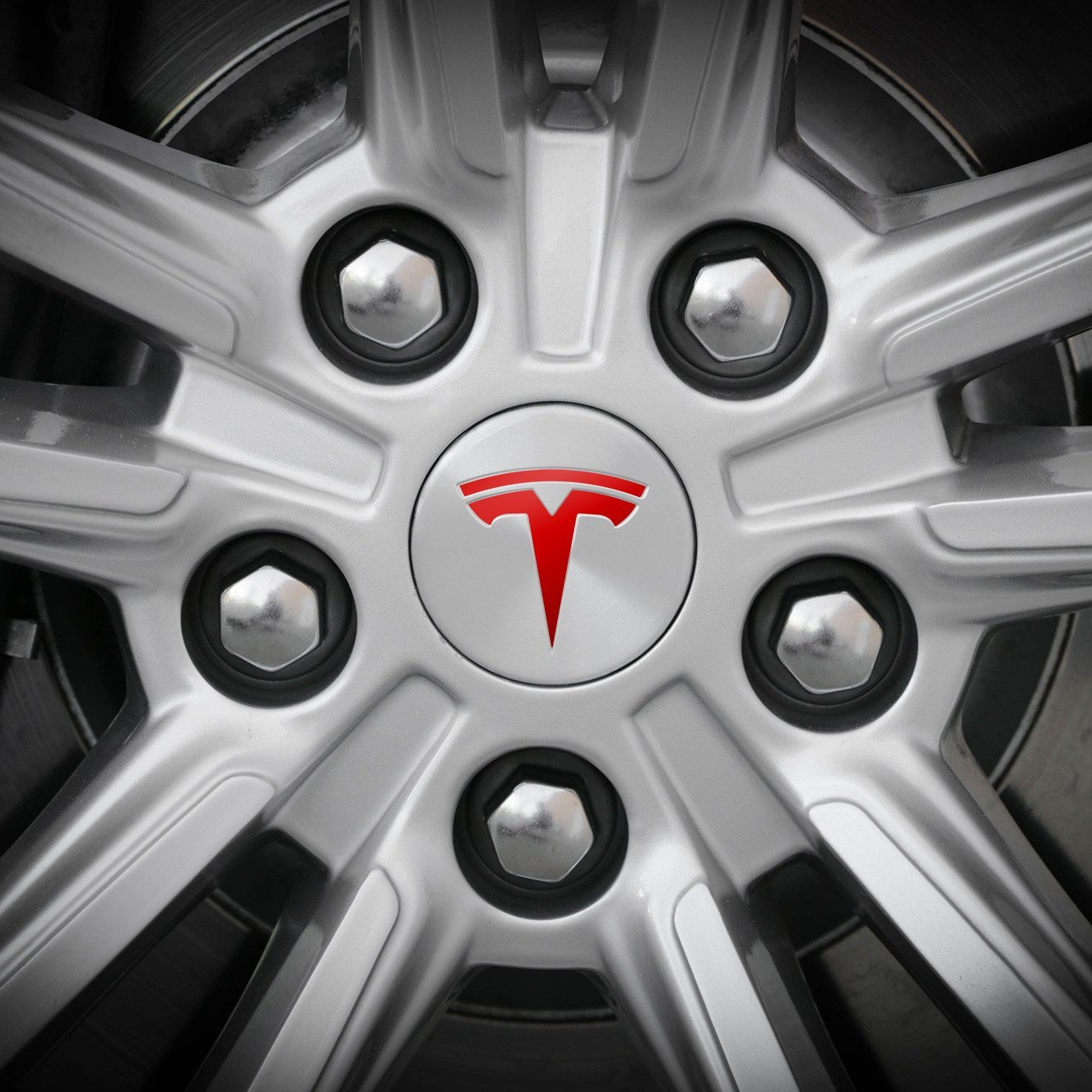 Tesla Wheel Decal (Carbon Fiber) S & K Manufacturing