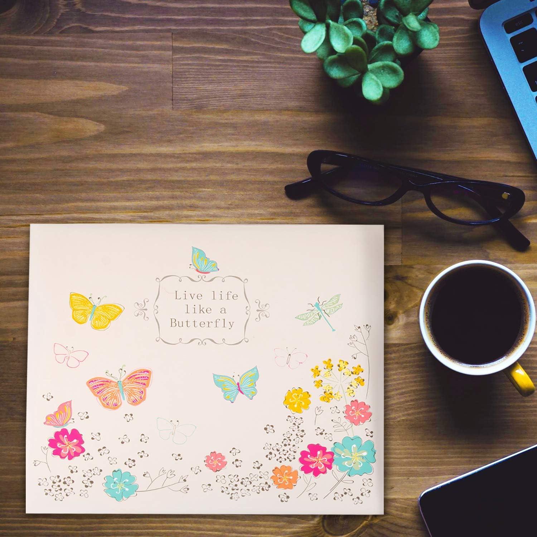 Scrapbooking Gift Photo Album Scrapbook DIY Scrapbook 12x12 Large 12x12 Photo Album Scrapbook Paper Crafting JK Crafts Cream Butterfly Scrapbook Album Kit Butterfly Scrapbooking Supplies