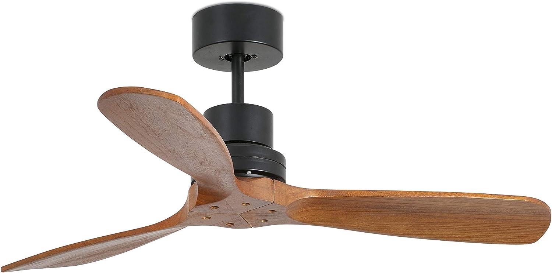 FARO BARCELONA 33517 - Mini LANTAU Ventilador de Techo Negro Mate
