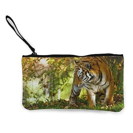 Wrution Tiger Predator - Monedero de Lona con Cremallera ...